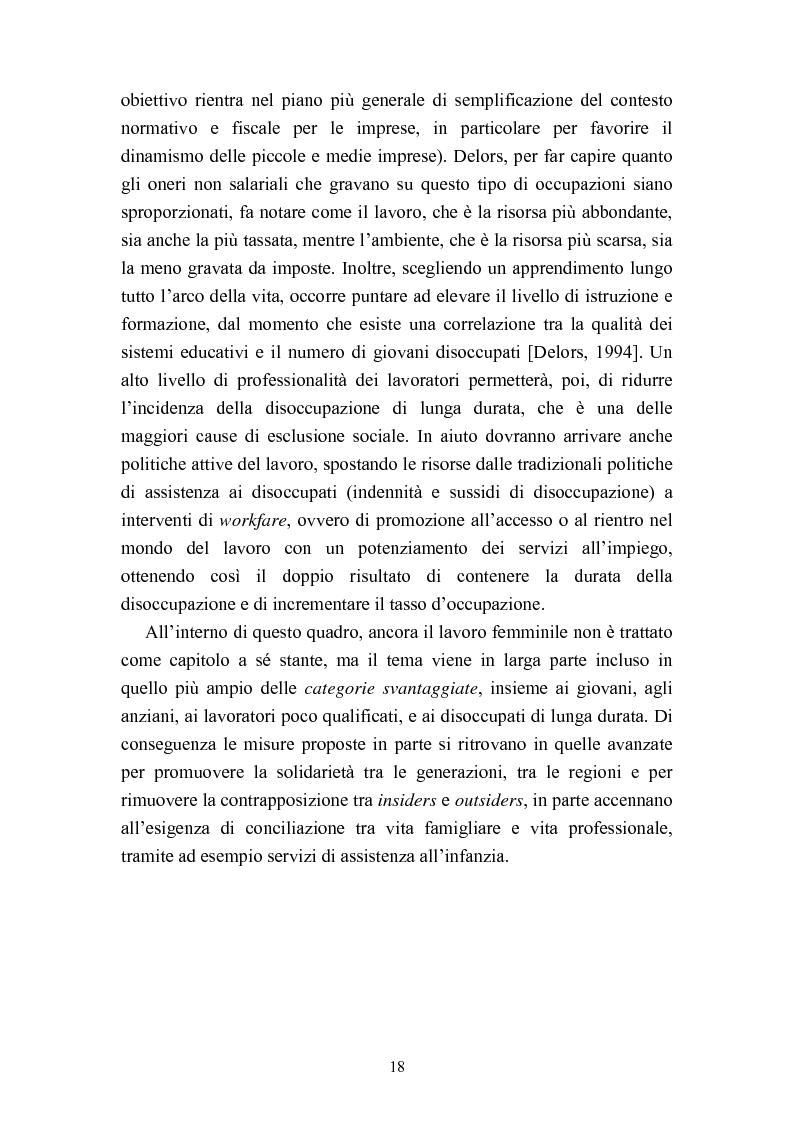 Anteprima della tesi: Le politiche del lavoro in un'ottica di genere, Pagina 12