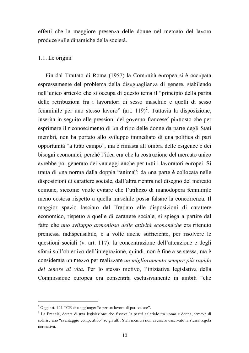 Anteprima della tesi: Le politiche del lavoro in un'ottica di genere, Pagina 4