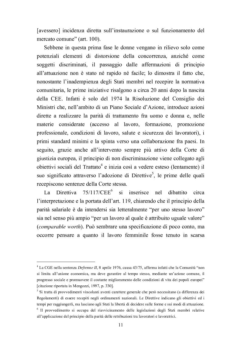 Anteprima della tesi: Le politiche del lavoro in un'ottica di genere, Pagina 5