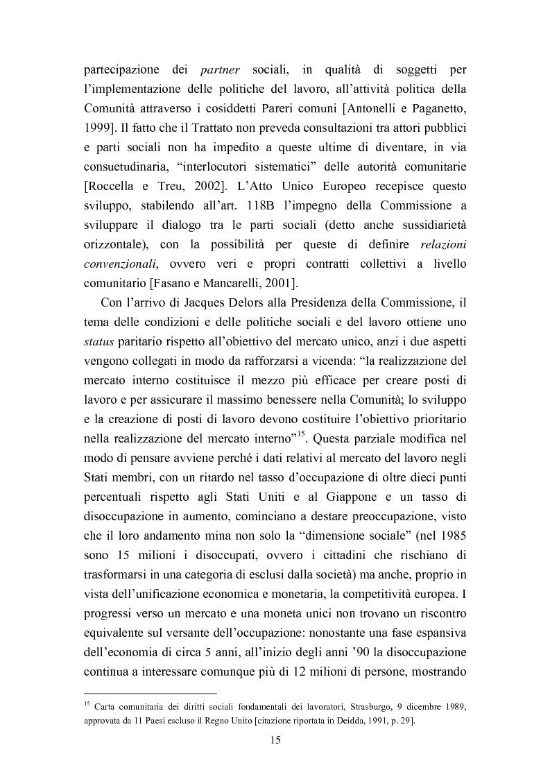Anteprima della tesi: Le politiche del lavoro in un'ottica di genere, Pagina 9