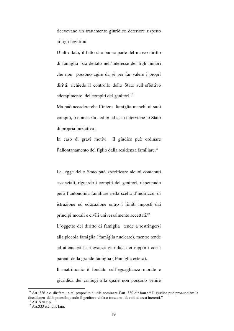 Anteprima della tesi: La Casa Famiglia per minori abbandonati: realtà e prospettive, Pagina 13
