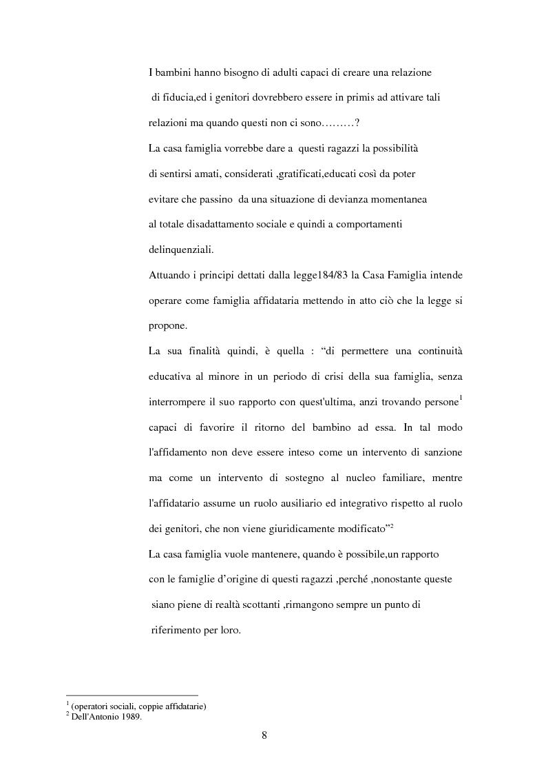 Anteprima della tesi: La Casa Famiglia per minori abbandonati: realtà e prospettive, Pagina 2