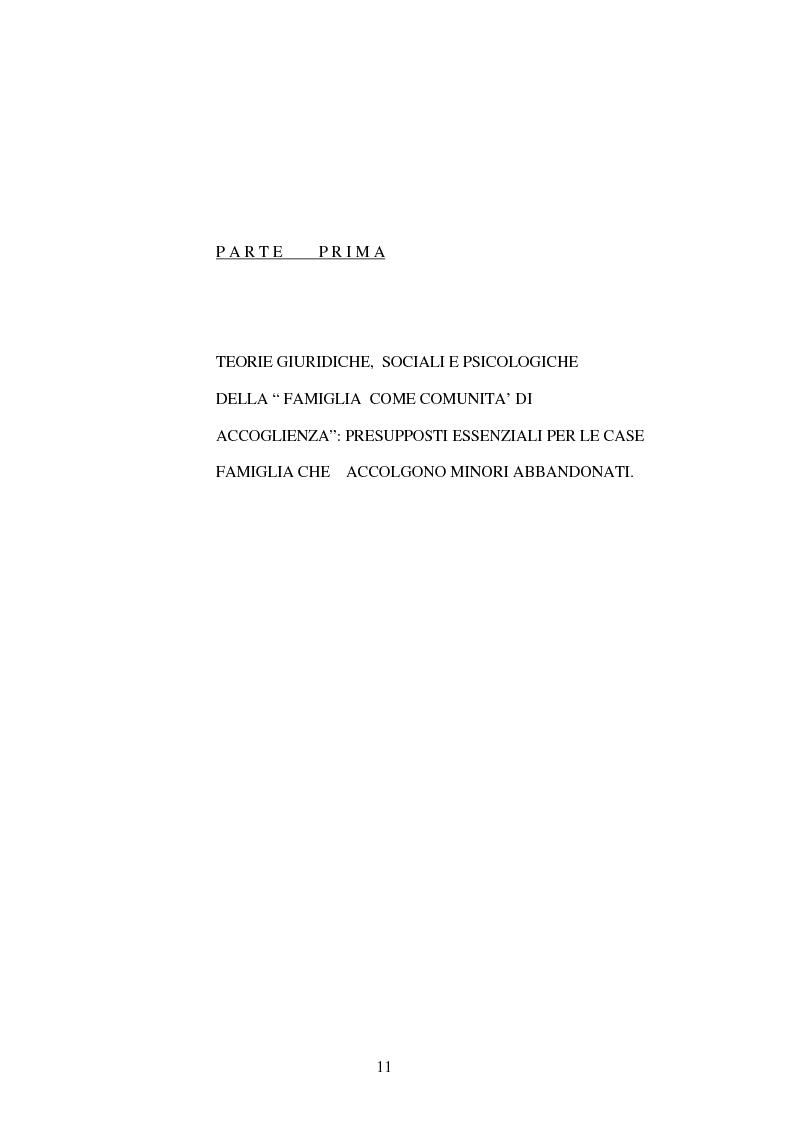 Anteprima della tesi: La Casa Famiglia per minori abbandonati: realtà e prospettive, Pagina 5