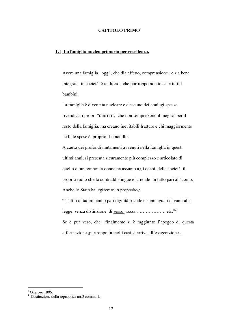 Anteprima della tesi: La Casa Famiglia per minori abbandonati: realtà e prospettive, Pagina 6