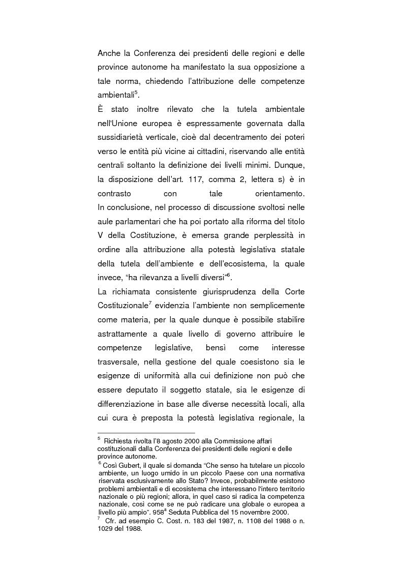 Anteprima della tesi: Regionalismo e protezione dell'ambiente nel dibattito sulla modifica del Titolo V della Costituzione, Pagina 2