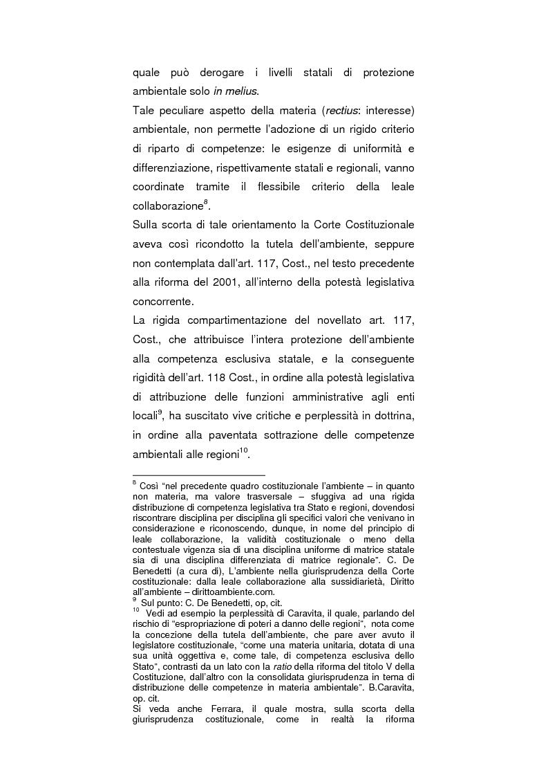 Anteprima della tesi: Regionalismo e protezione dell'ambiente nel dibattito sulla modifica del Titolo V della Costituzione, Pagina 3