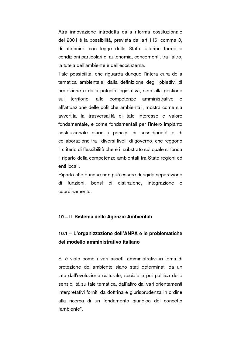 Anteprima della tesi: Regionalismo e protezione dell'ambiente nel dibattito sulla modifica del Titolo V della Costituzione, Pagina 8