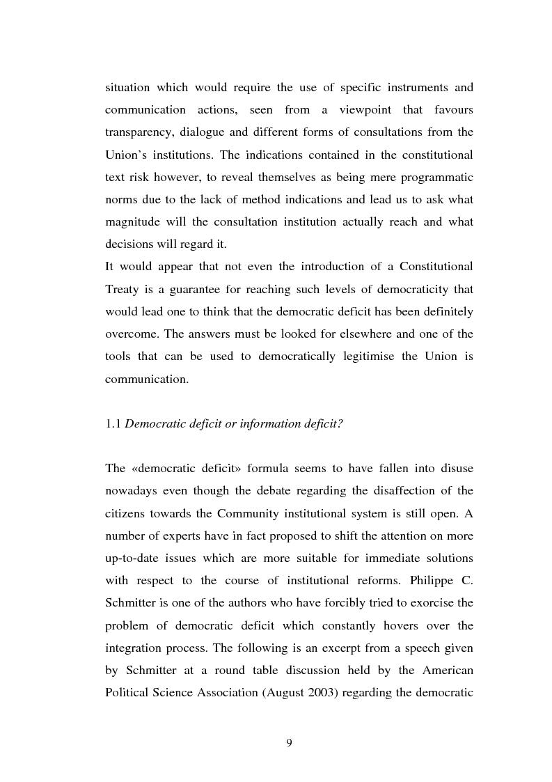 Anteprima della tesi: The Institutional Communication of the European Union, Pagina 11