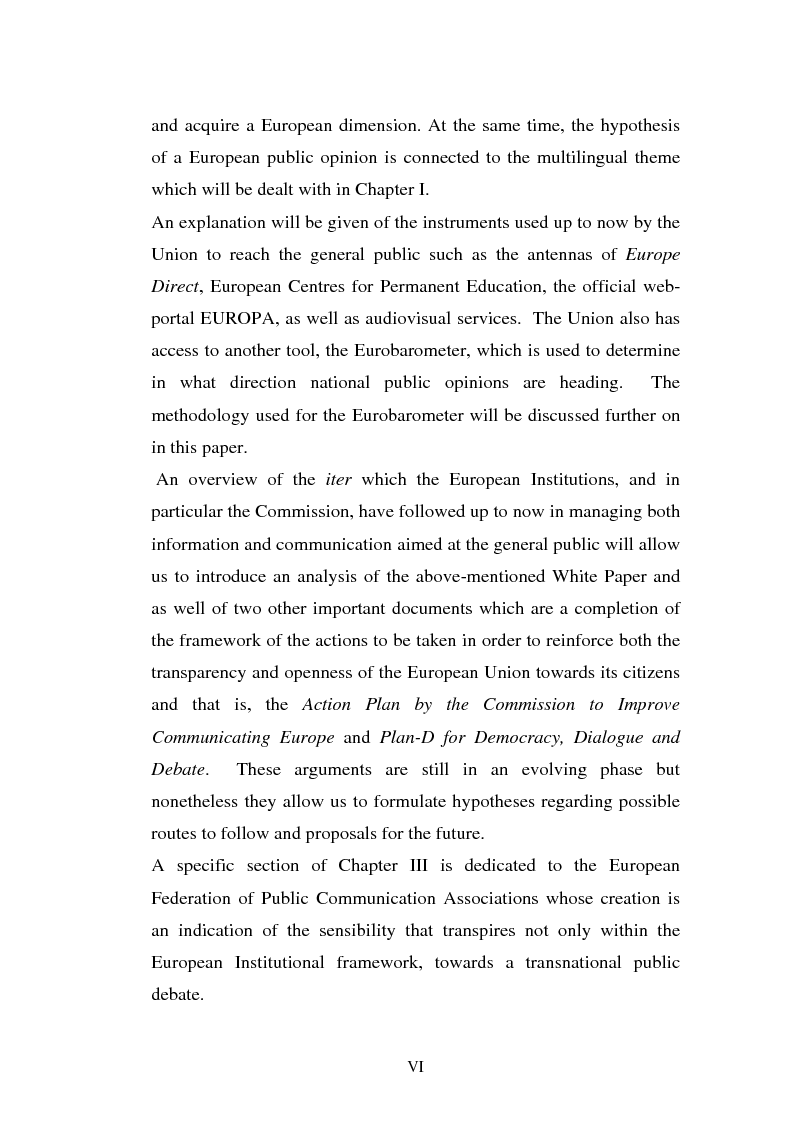 Anteprima della tesi: The Institutional Communication of the European Union, Pagina 2