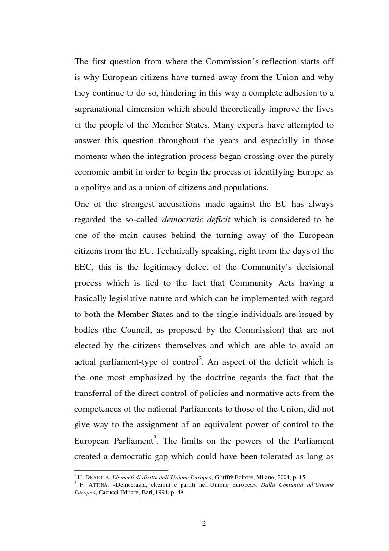 Anteprima della tesi: The Institutional Communication of the European Union, Pagina 4