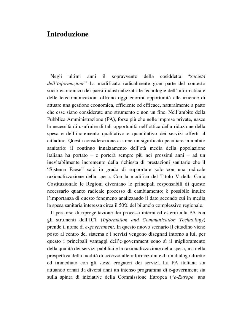 Anteprima della tesi: Metodi innovativi per l'acquisizione di tecnologie nelle aziende sanitarie pubbliche, Pagina 1