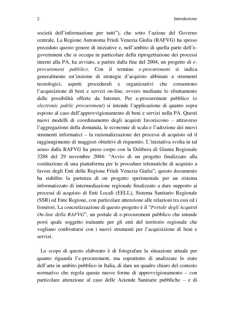 Anteprima della tesi: Metodi innovativi per l'acquisizione di tecnologie nelle aziende sanitarie pubbliche, Pagina 2