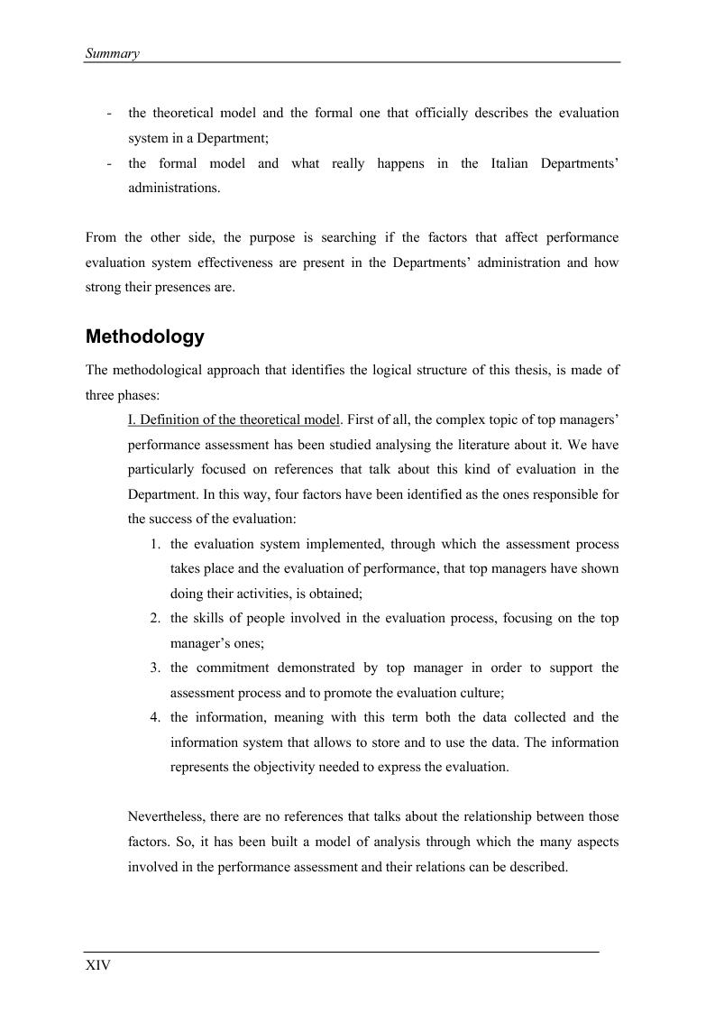Anteprima della tesi: La valutazione delle prestazioni dei dirigenti nei Ministeri italiani, Pagina 14