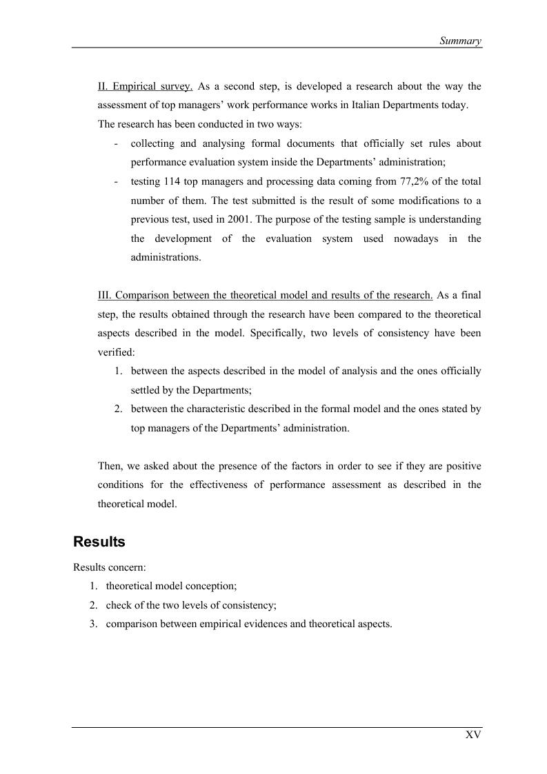 Anteprima della tesi: La valutazione delle prestazioni dei dirigenti nei Ministeri italiani, Pagina 15