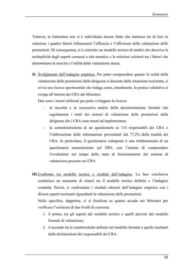 Anteprima della tesi: La valutazione delle prestazioni dei dirigenti nei Ministeri italiani, Pagina 3