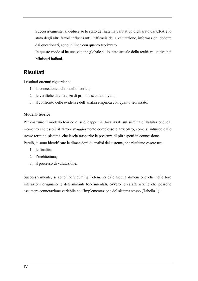 Anteprima della tesi: La valutazione delle prestazioni dei dirigenti nei Ministeri italiani, Pagina 4