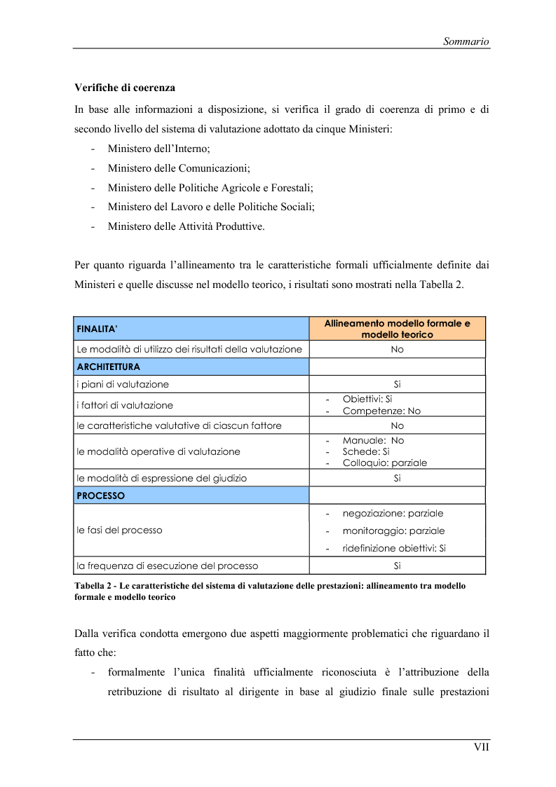Anteprima della tesi: La valutazione delle prestazioni dei dirigenti nei Ministeri italiani, Pagina 7