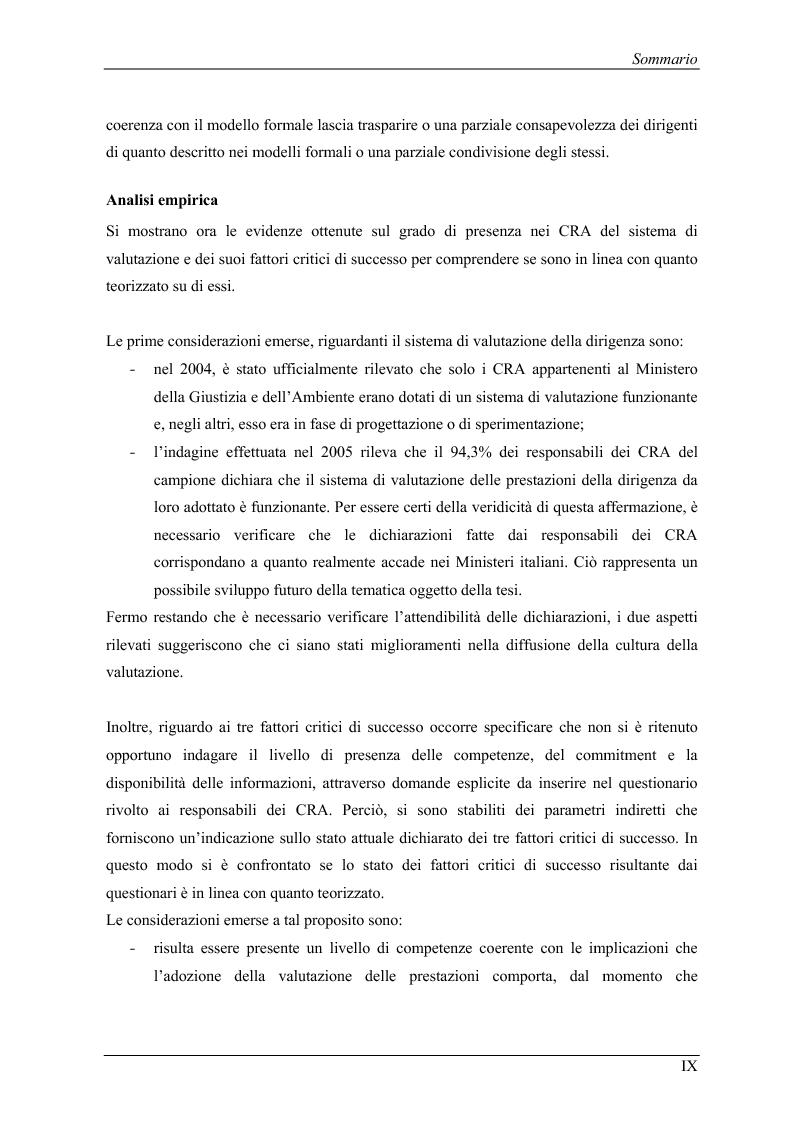 Anteprima della tesi: La valutazione delle prestazioni dei dirigenti nei Ministeri italiani, Pagina 9