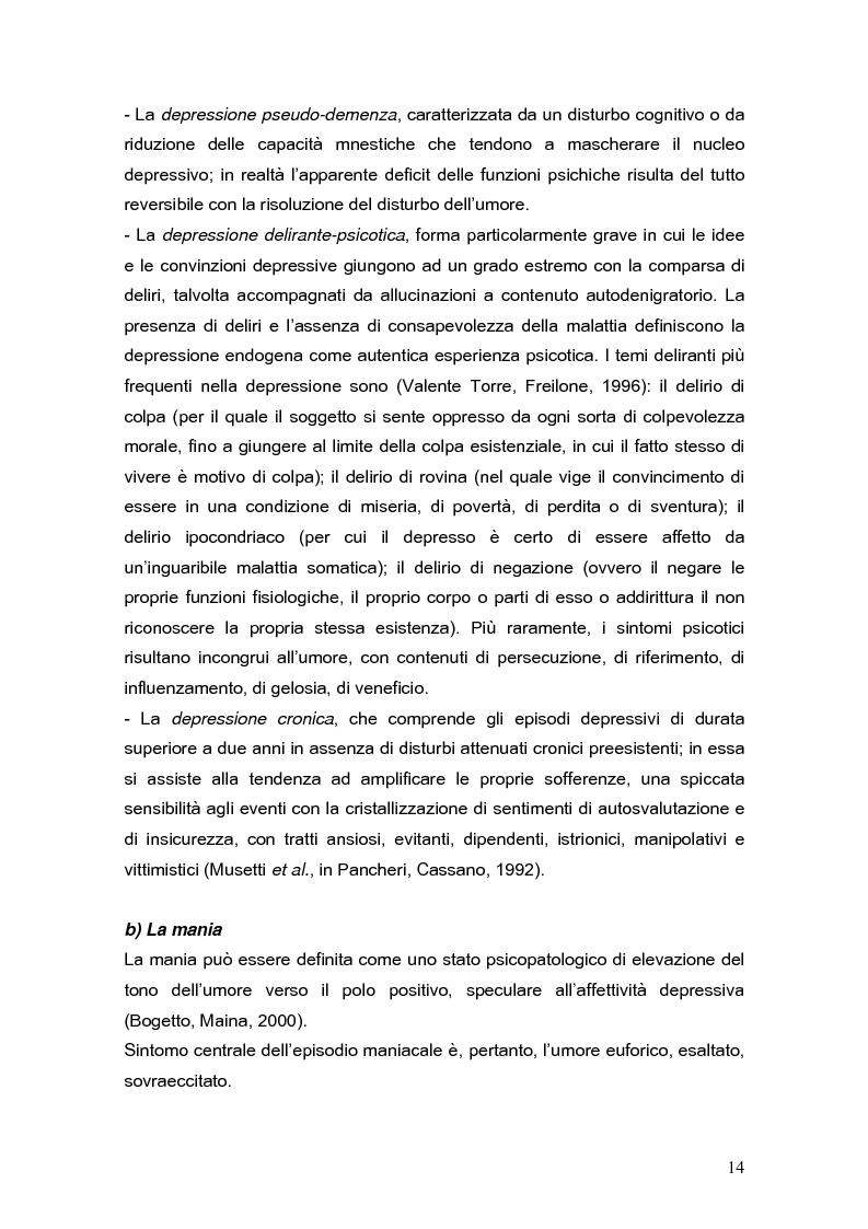 Anteprima della tesi: Psicodinamica della depressione post-partum: uno studio sulla prevalenza e sui fattori di rischio correlati, Pagina 14