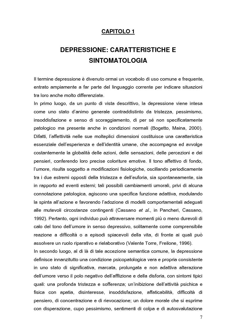 Anteprima della tesi: Psicodinamica della depressione post-partum: uno studio sulla prevalenza e sui fattori di rischio correlati, Pagina 7