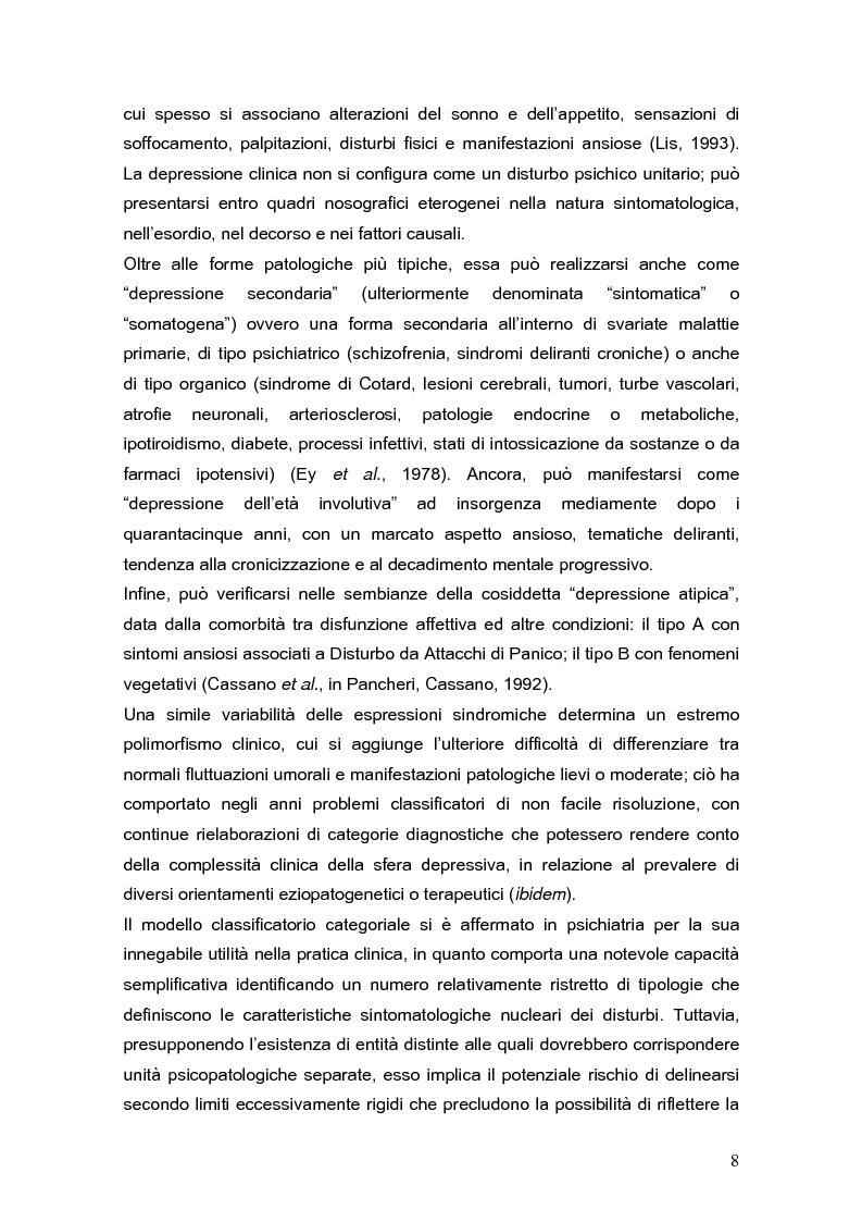 Anteprima della tesi: Psicodinamica della depressione post-partum: uno studio sulla prevalenza e sui fattori di rischio correlati, Pagina 8