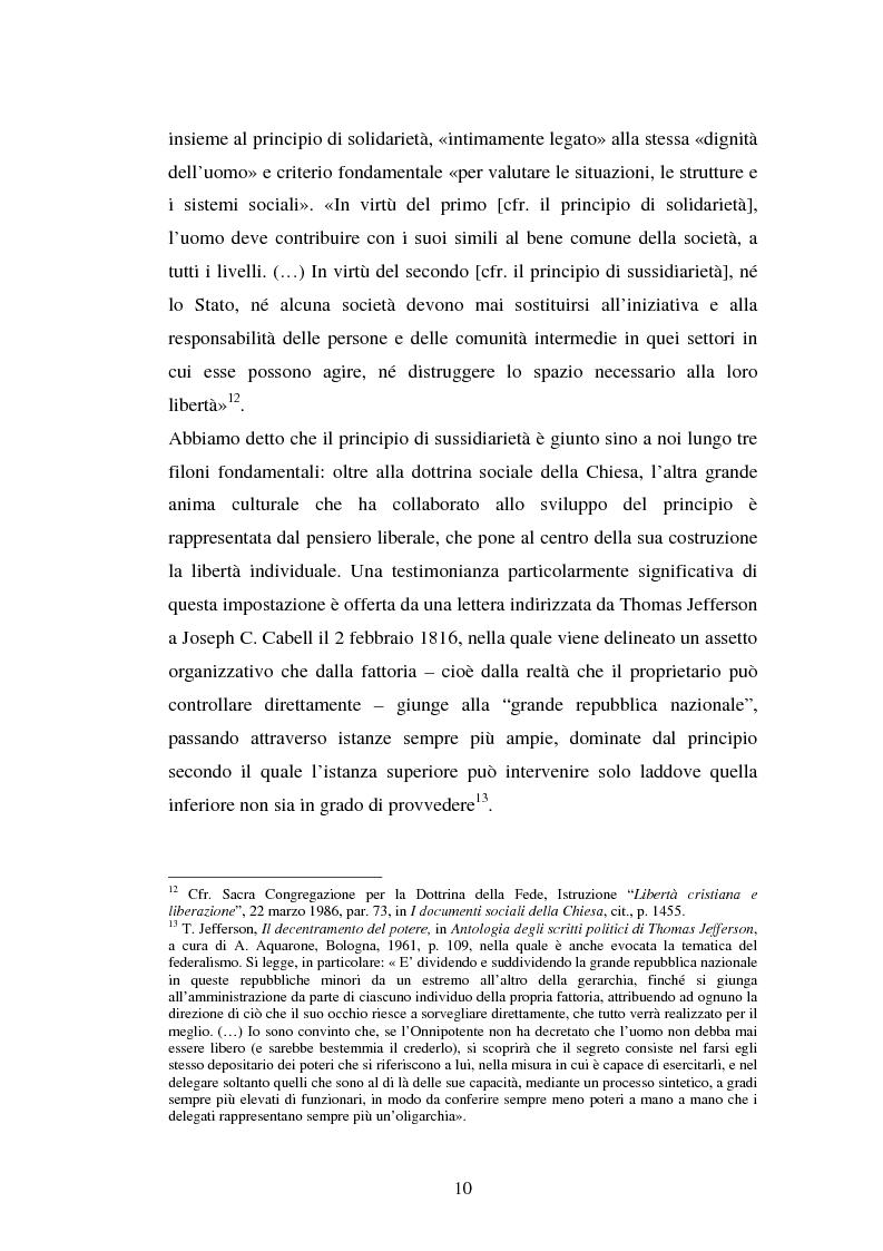 Anteprima della tesi: Competenze amministrative e sussidiarietà, Pagina 10