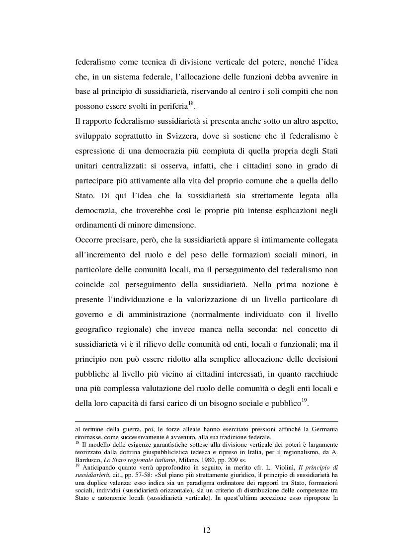 Anteprima della tesi: Competenze amministrative e sussidiarietà, Pagina 12