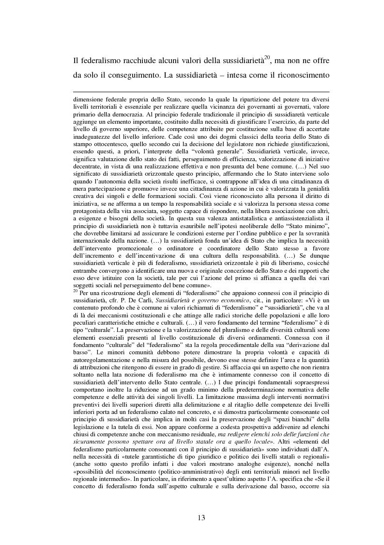 Anteprima della tesi: Competenze amministrative e sussidiarietà, Pagina 13