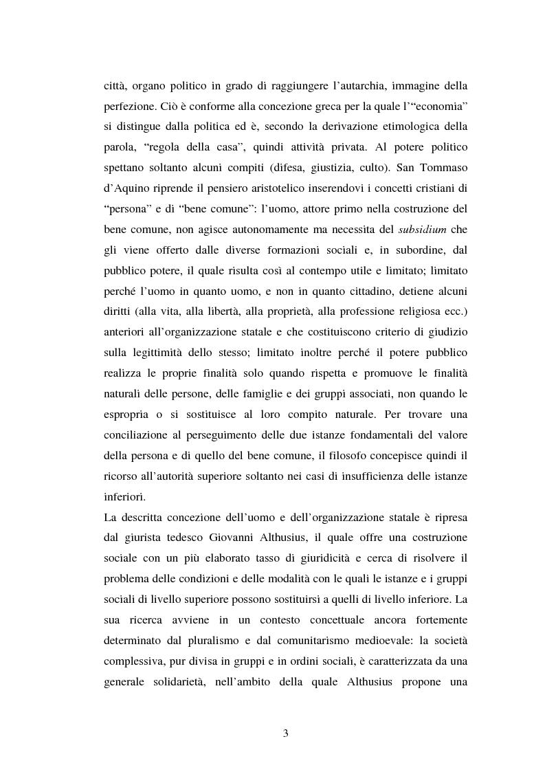 Anteprima della tesi: Competenze amministrative e sussidiarietà, Pagina 3
