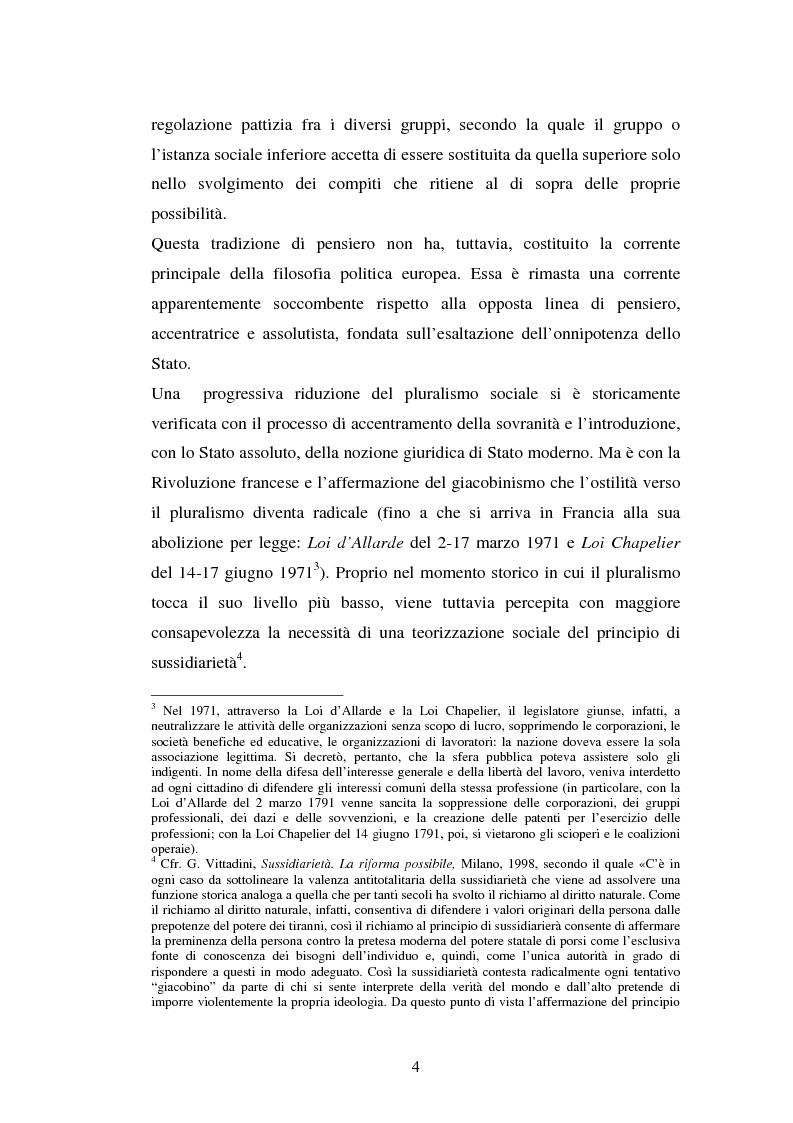 Anteprima della tesi: Competenze amministrative e sussidiarietà, Pagina 4