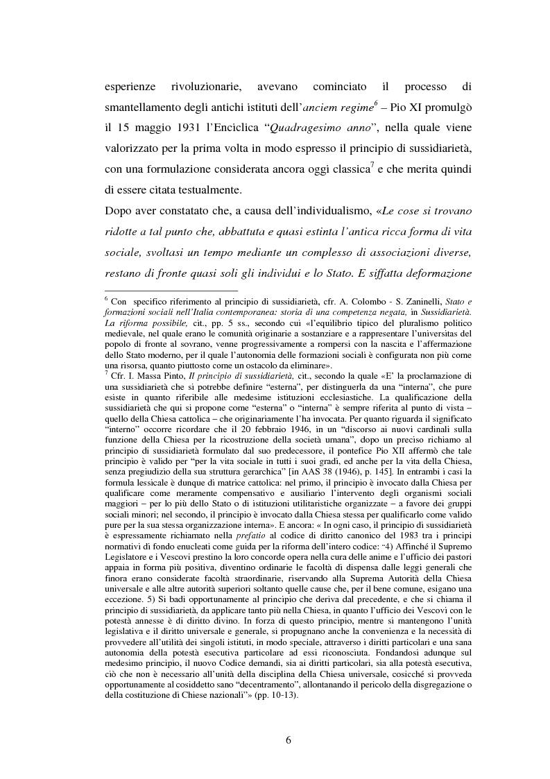 Anteprima della tesi: Competenze amministrative e sussidiarietà, Pagina 6