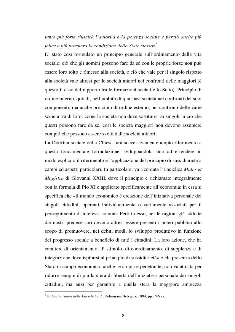 Anteprima della tesi: Competenze amministrative e sussidiarietà, Pagina 8