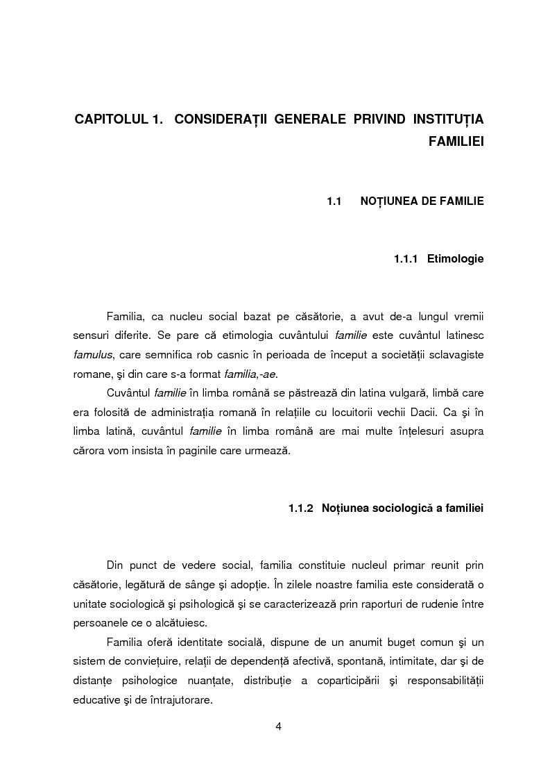 Anteprima della tesi: Evolutia, actualitatea si perspectiva institutiei familiei, Pagina 1