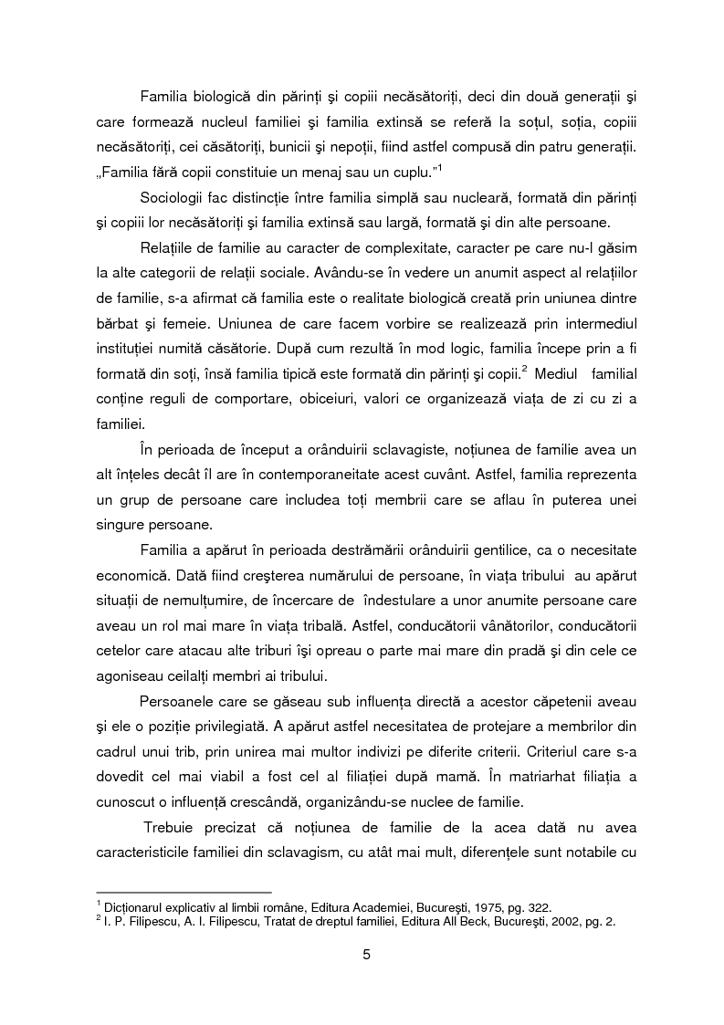 Anteprima della tesi: Evolutia, actualitatea si perspectiva institutiei familiei, Pagina 2