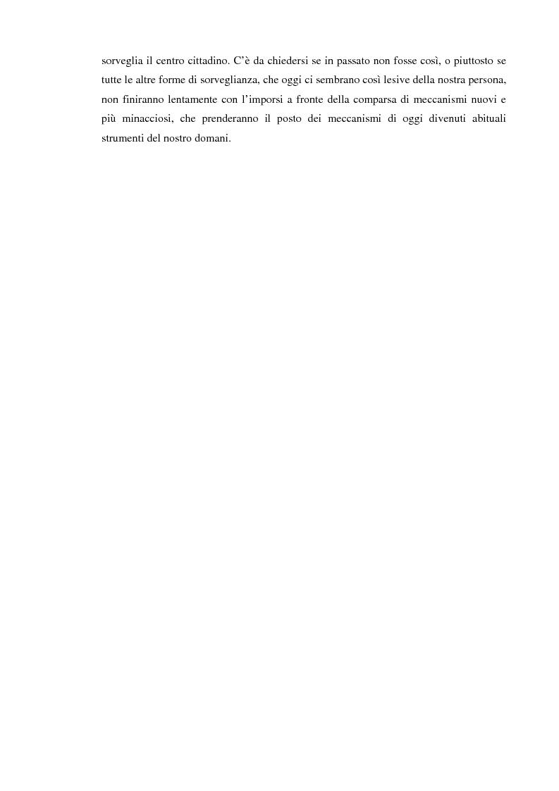 Anteprima della tesi: Società sorvegliata: i nuovi media, privacy e videosorveglianza come strumenti del controllo sociale, Pagina 4