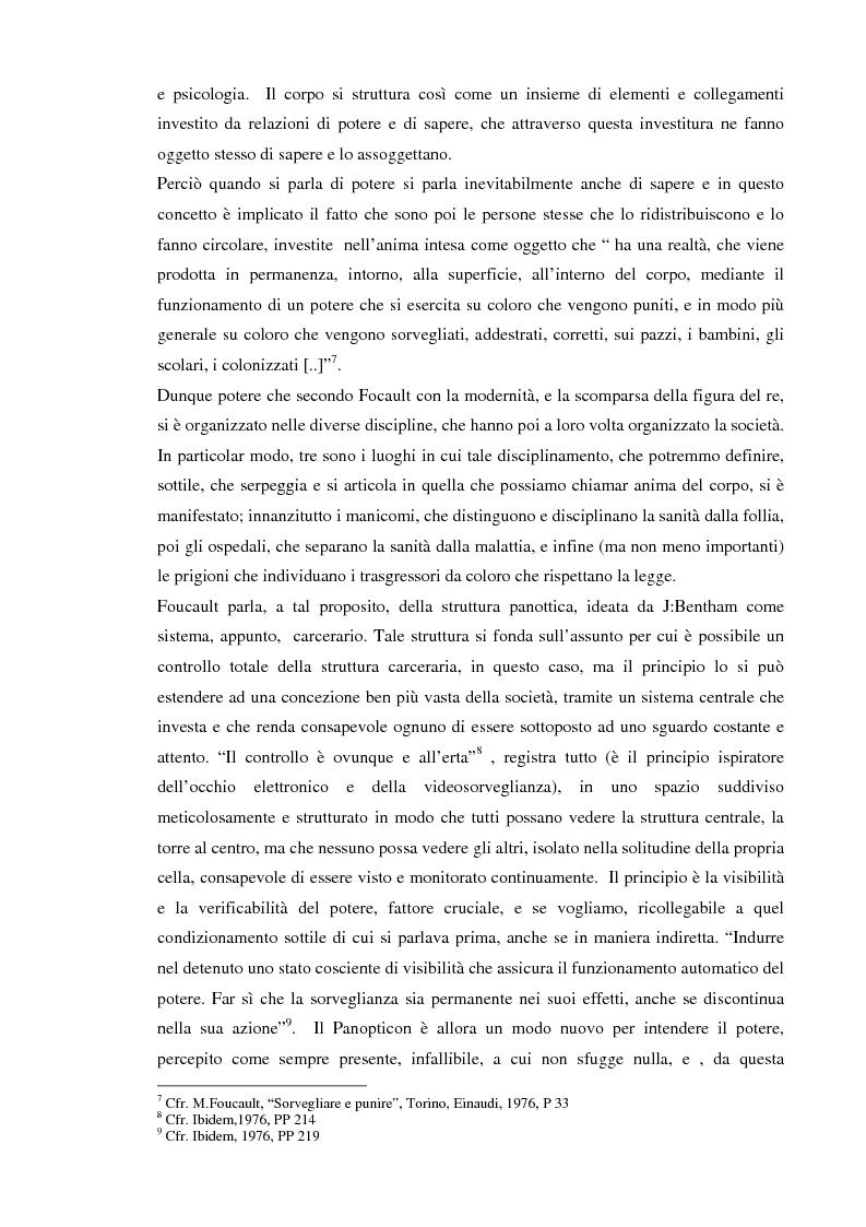 Anteprima della tesi: Società sorvegliata: i nuovi media, privacy e videosorveglianza come strumenti del controllo sociale, Pagina 7