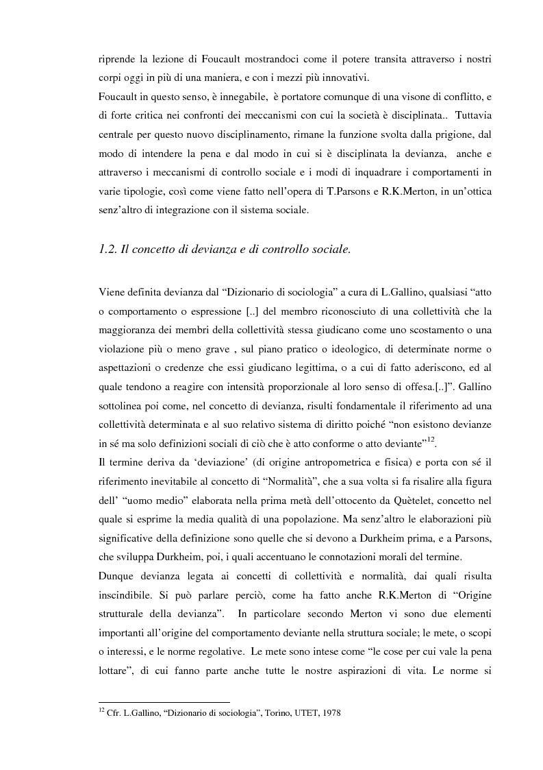 Anteprima della tesi: Società sorvegliata: i nuovi media, privacy e videosorveglianza come strumenti del controllo sociale, Pagina 9