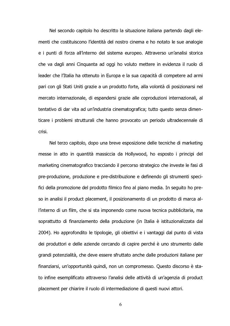 Anteprima della tesi: Il settore cinematografico italiano: prospettive di sviluppo tra industria e istituzioni, Pagina 2