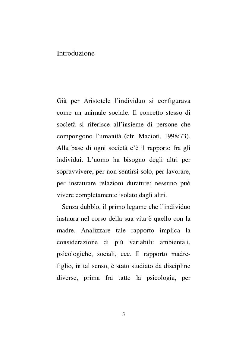 Donne e carcere: La maternit� all'interno di istituzioni totali - Tesi di Laurea