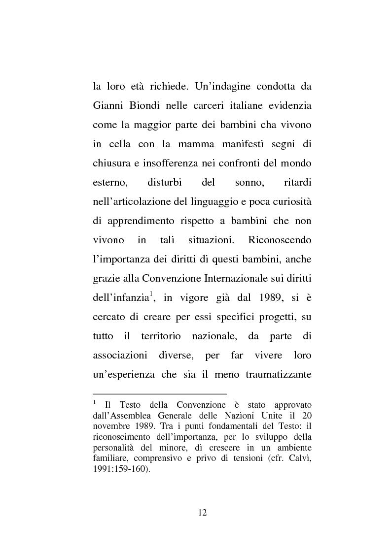 Anteprima della tesi: Donne e carcere: La maternità all'interno di istituzioni totali, Pagina 10