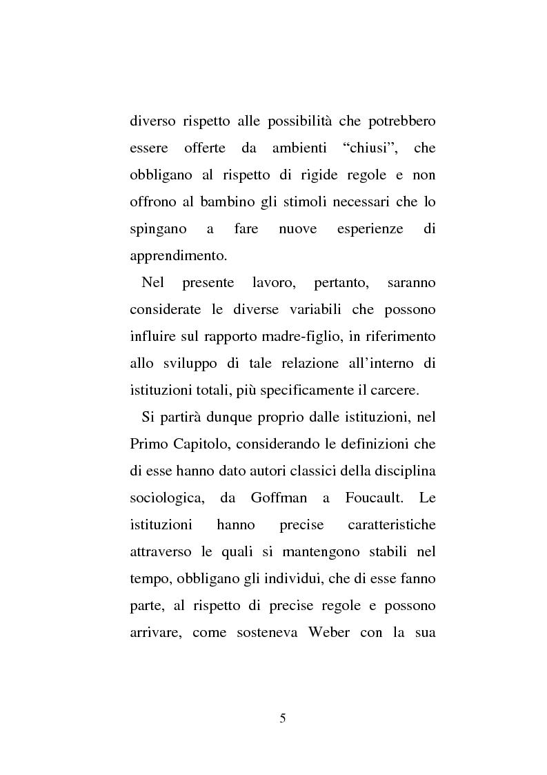 Anteprima della tesi: Donne e carcere: La maternità all'interno di istituzioni totali, Pagina 3