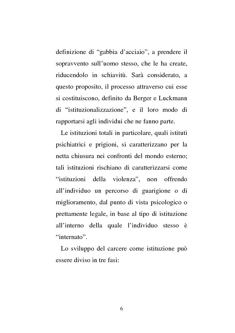 Anteprima della tesi: Donne e carcere: La maternità all'interno di istituzioni totali, Pagina 4