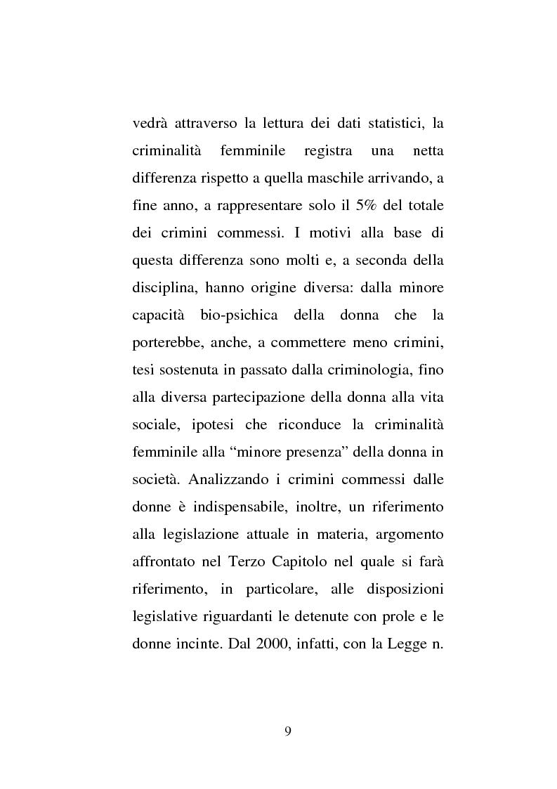 Anteprima della tesi: Donne e carcere: La maternità all'interno di istituzioni totali, Pagina 7
