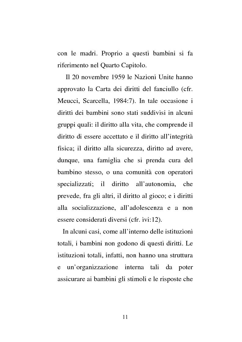 Anteprima della tesi: Donne e carcere: La maternità all'interno di istituzioni totali, Pagina 9