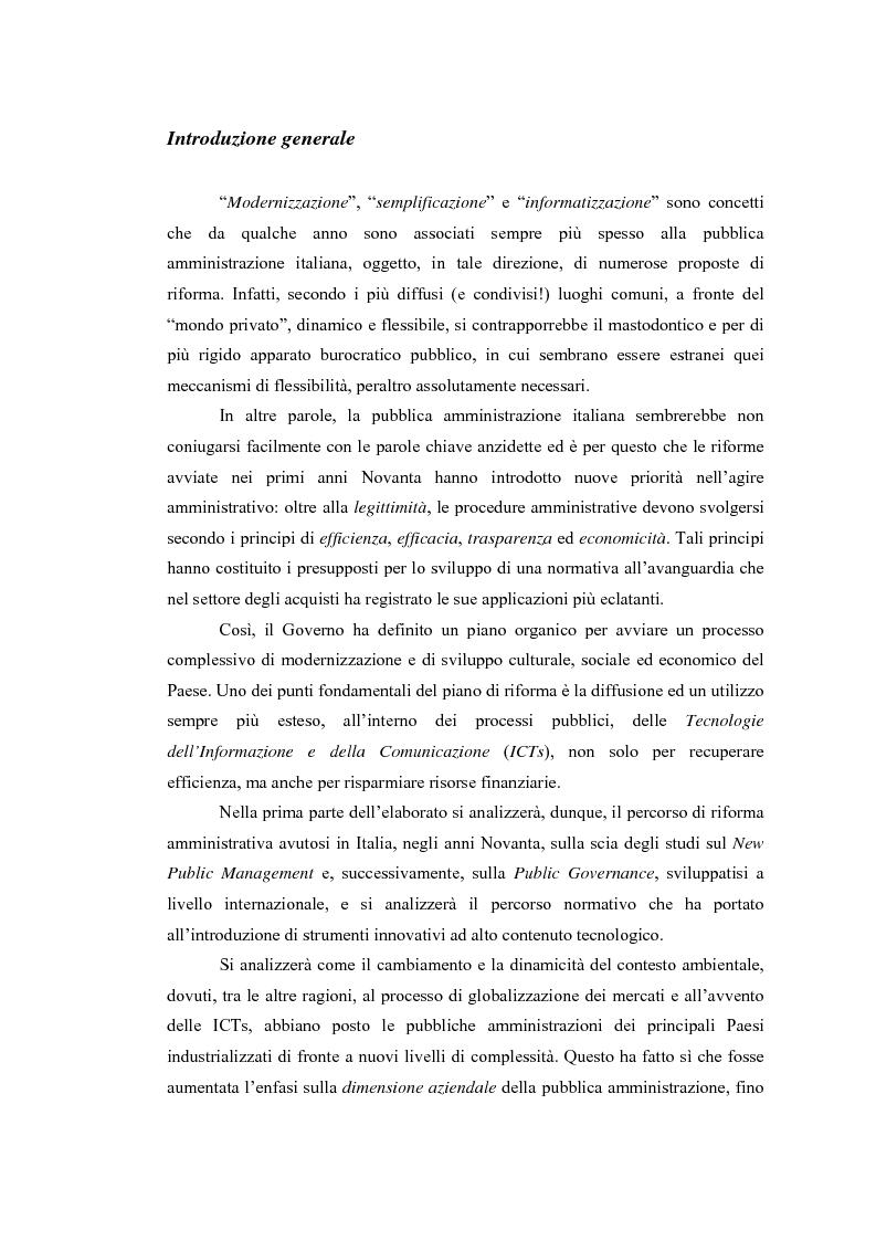 Anteprima della tesi: La Pubblica Amministrazione e la Consip, Pagina 1