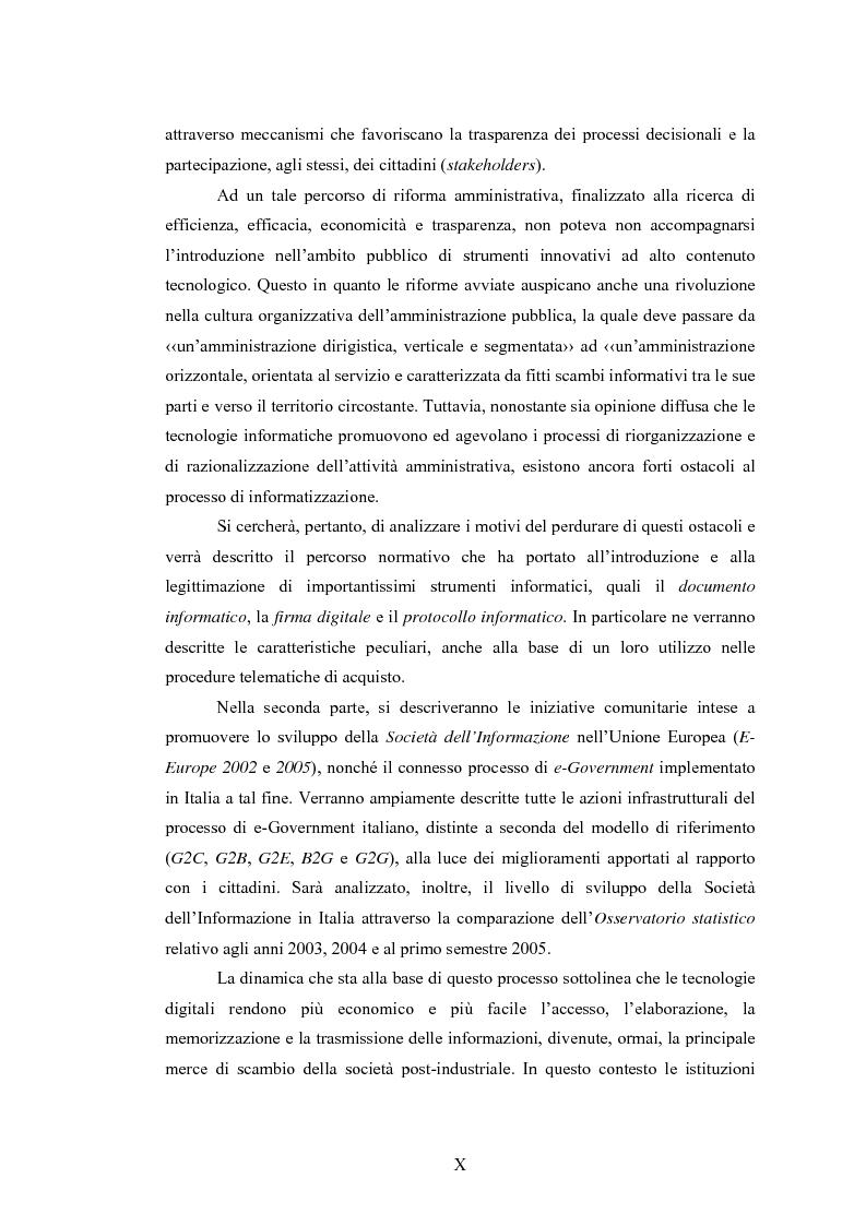 Anteprima della tesi: La Pubblica Amministrazione e la Consip, Pagina 3