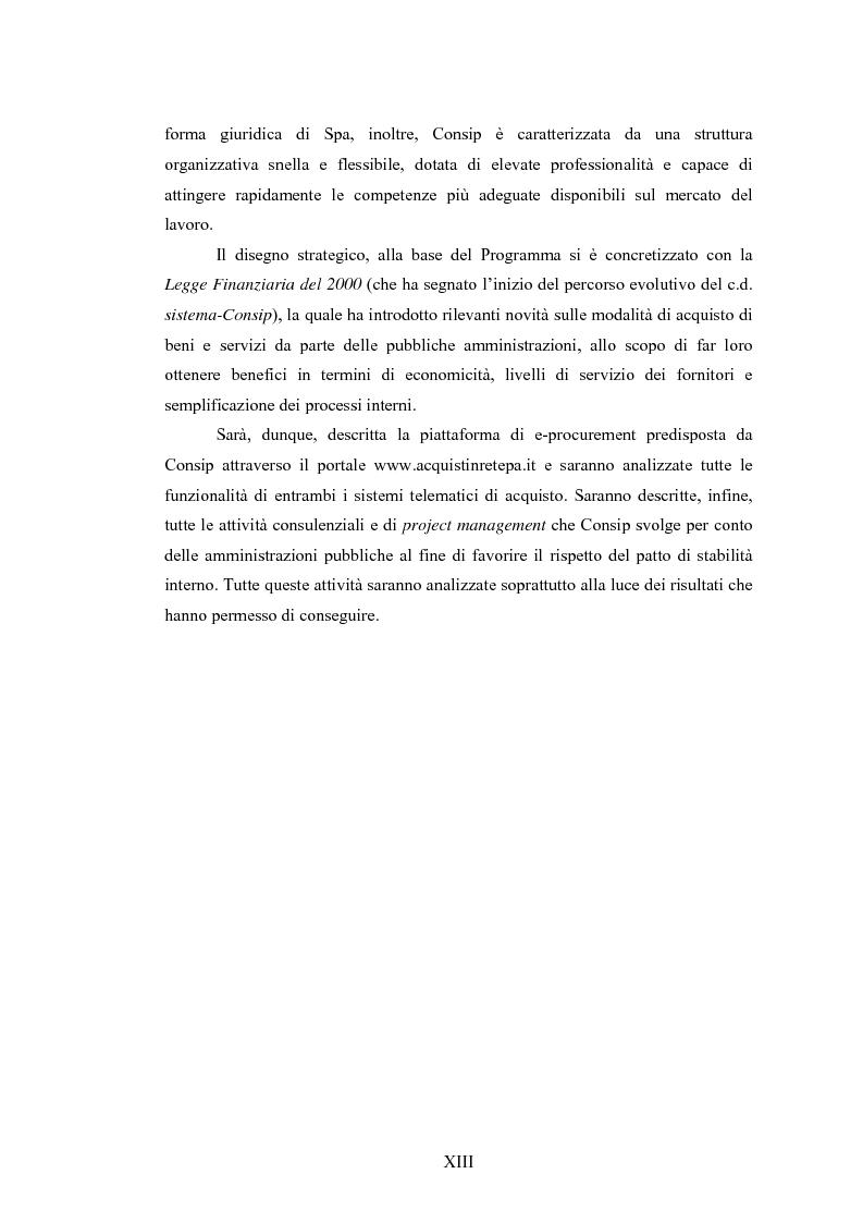 Anteprima della tesi: La Pubblica Amministrazione e la Consip, Pagina 6