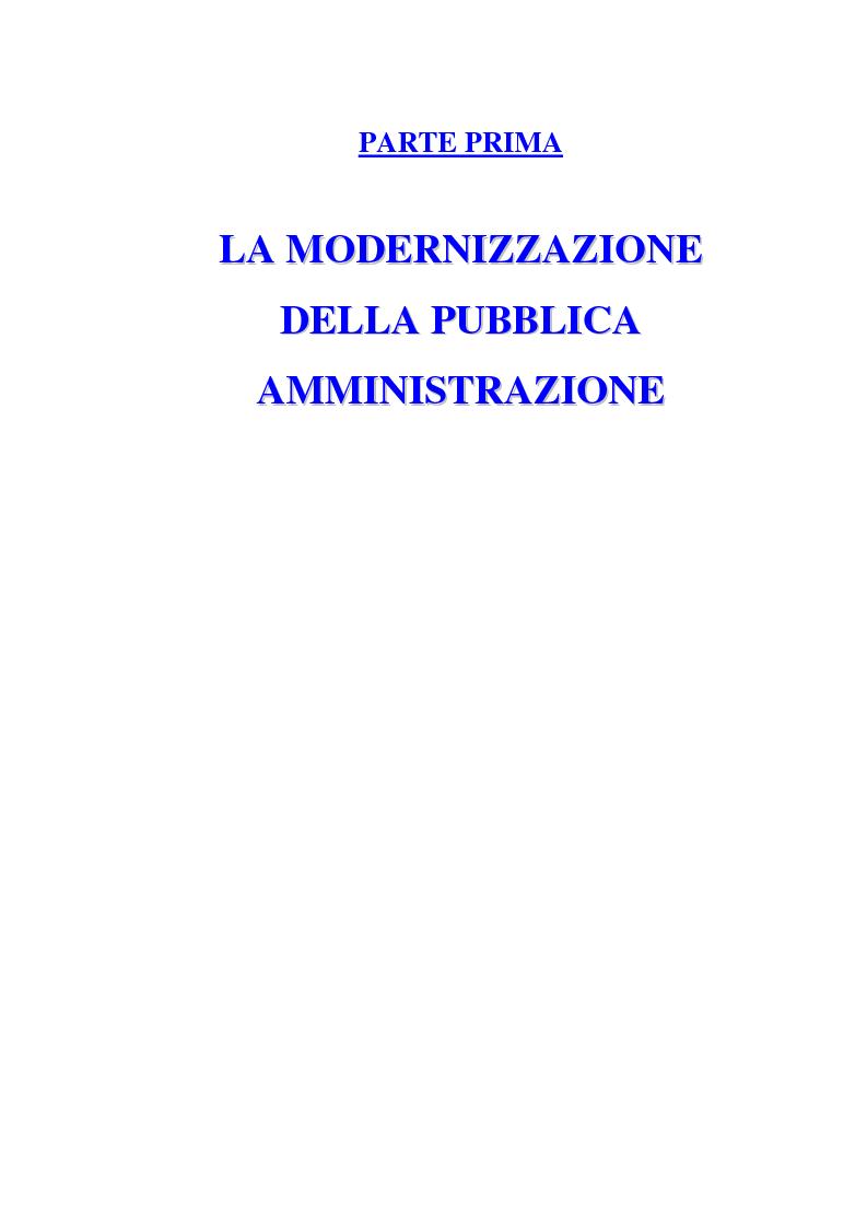 Anteprima della tesi: La Pubblica Amministrazione e la Consip, Pagina 7