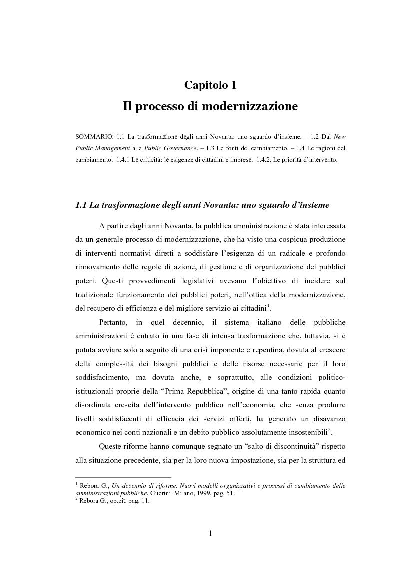 Anteprima della tesi: La Pubblica Amministrazione e la Consip, Pagina 8