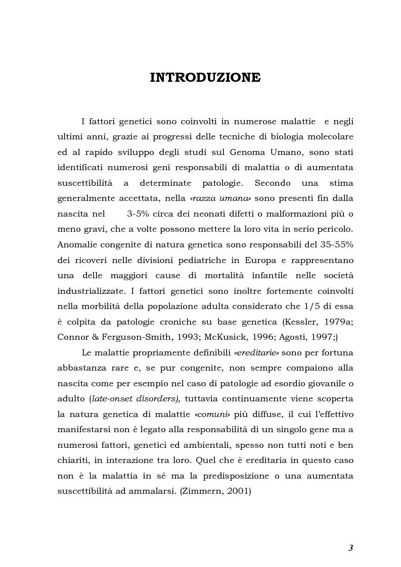 Anteprima della tesi: Psicologia e Medicina Genetica: Promuovere la Salute secondo l'Approccio Centrato sulla Persona, Pagina 1